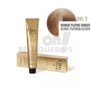 Crema Colorante Permanente Sin Amoniaco Rubio Dorado 100ml