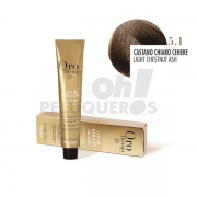Crema Colorante Permanente Sin Amoniaco Castaño Claro Ceniza 100ml