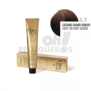 Crema Colorante Permanente Sin Amoniaco Castaño Claro Dorado 100ml