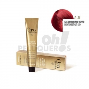Crema Colorante Permanente Sin Amoniaco Castaño Claro Rojo 100ml