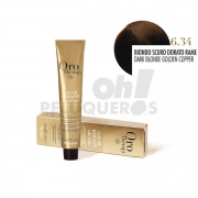 Crema Colorante Permanente Sin Amoniaco Rubio Oscuro Dorado Cobrizo 100ml