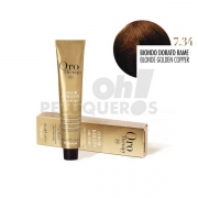 Crema Colorante Permanente Sin Amoniaco Rubio Dorado Cobre 100ml