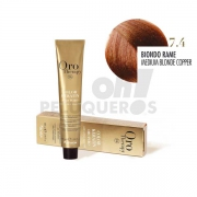 Crema Colorante Permanente Sin Amoniaco Rubio Cobre 100ml
