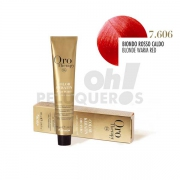Crema Colorante Permanente Sin Amoniaco Rubio Rojo Cálido 100ml