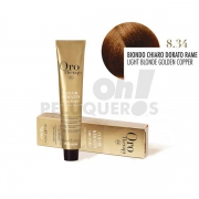 Crema Colorante Permanente Sin Amoniaco Rubio Claro Dorado Cobrizo 100ml